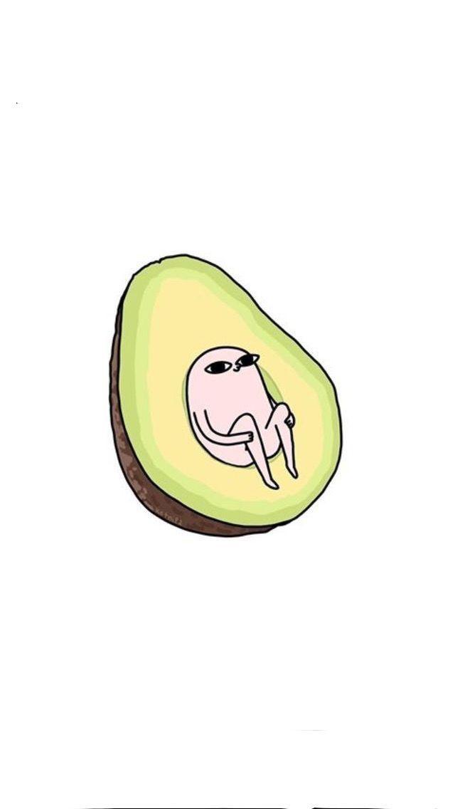 Avocado ~ illustration   Lustig illustration, Lustige ...