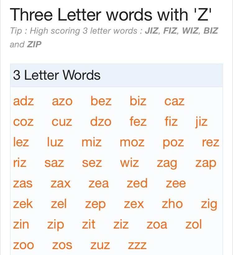 3 letter words with z | scrabble words | pinterest | scrabble words