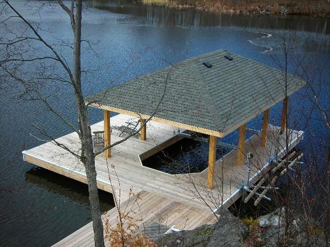 Covered boat slips google search boat dock pinterest for How much does a lake house cost