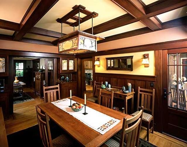 26 Charming Craftsman Dining Room Lighting Design | Craftsman dining ...