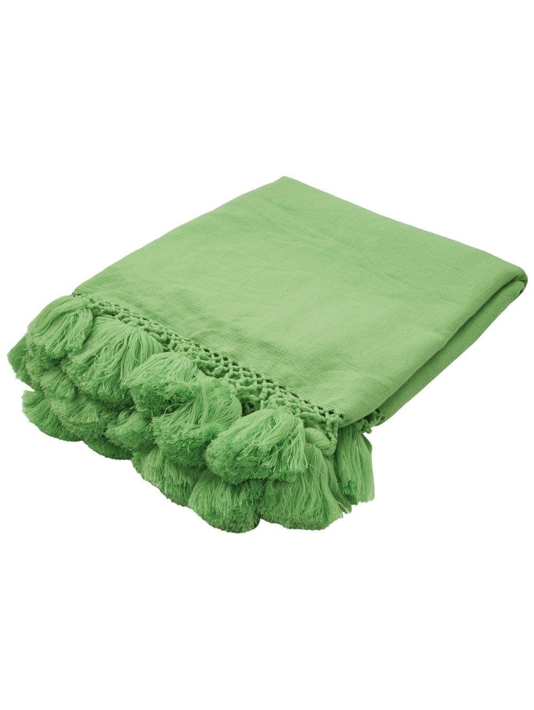 Kate Spade New York Seaport Tassel Throw Green Green Bedding Green Throw Blanket Blanket