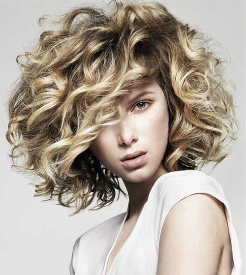 Short Hairstyles For Frizzy Hair Interesting Short Hairstyles For Curly Frizzy Blonde Hairamazing Hair So