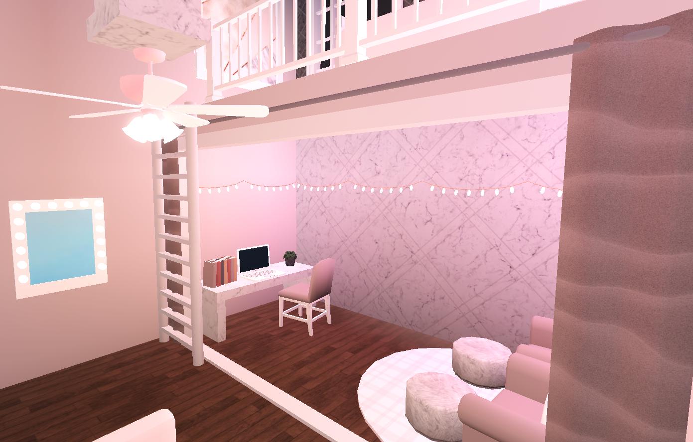 Pink Aesthetic Bloxburg Bedroom in 2020 Unique house