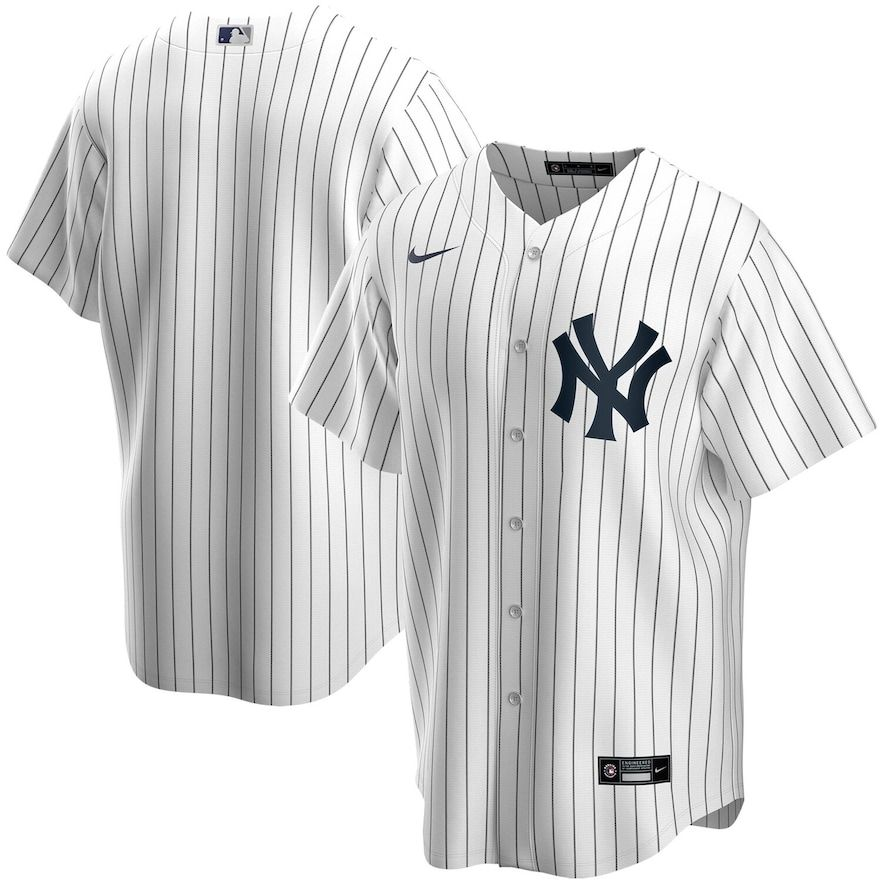 Men S Nike White New York Yankees Home 2020 Replica Team Jersey In 2020 New York Yankees Baseball New York Yankees Yankees Baseball