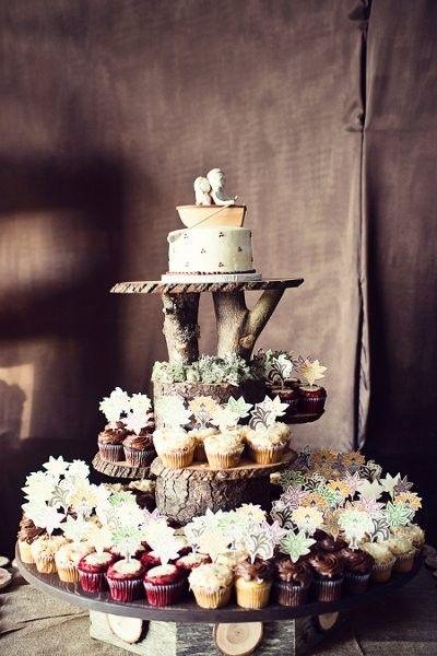 display rústico para cupcakes   decoración para el hogar   pasteles