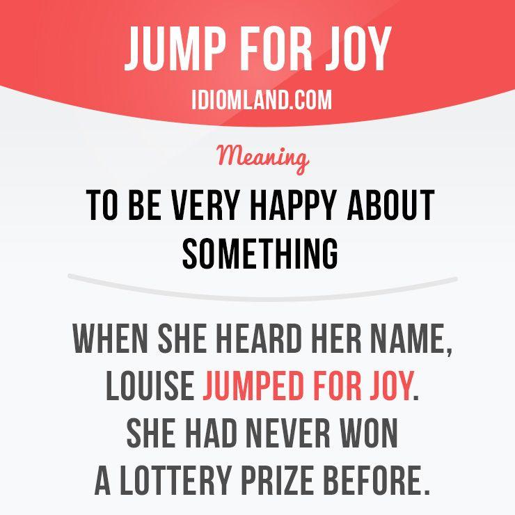 Jump for joy - Saltare dalla gioia
