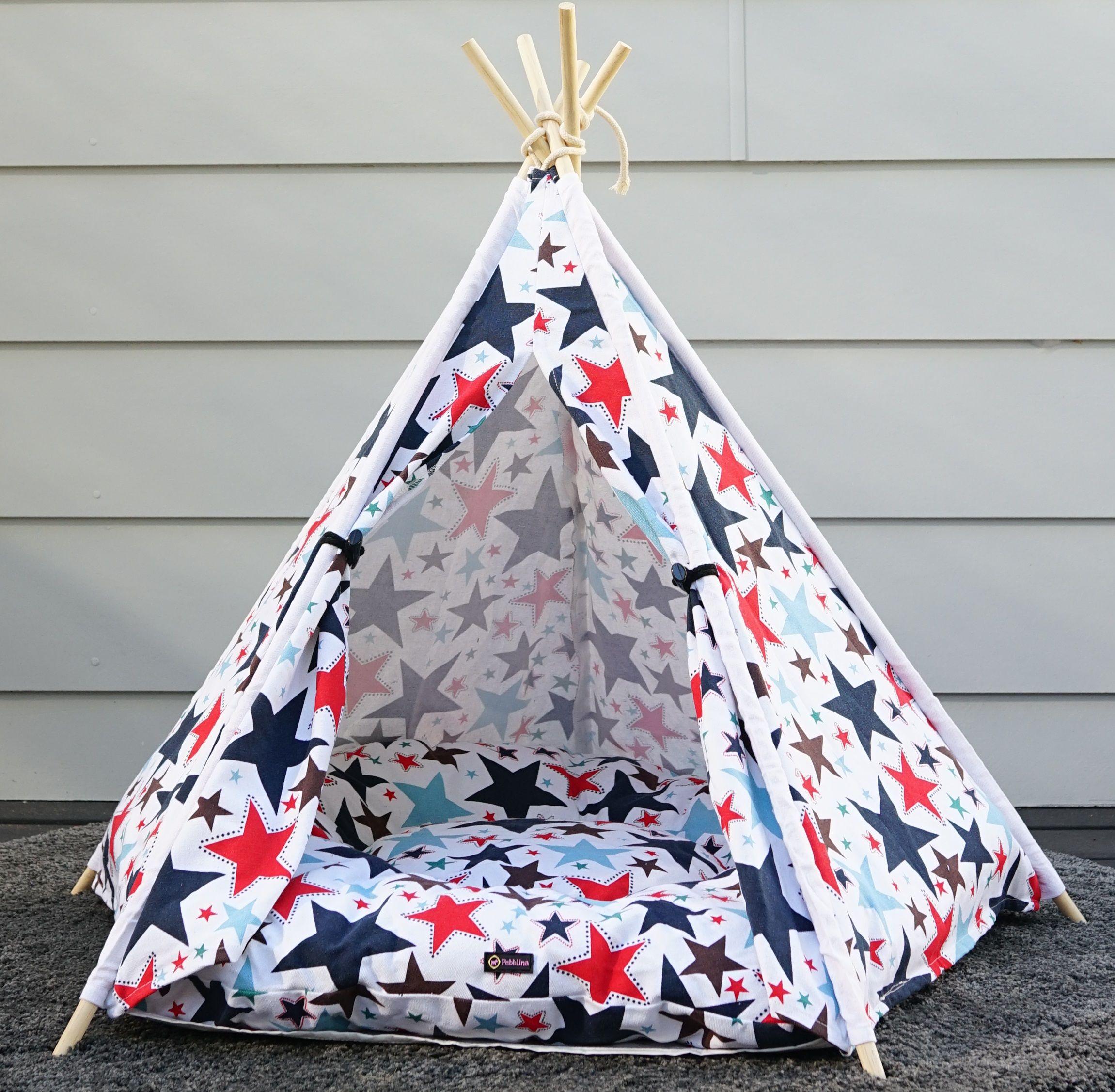 White Starry Dog Teepee Tent Dog teepee, Teepee tent