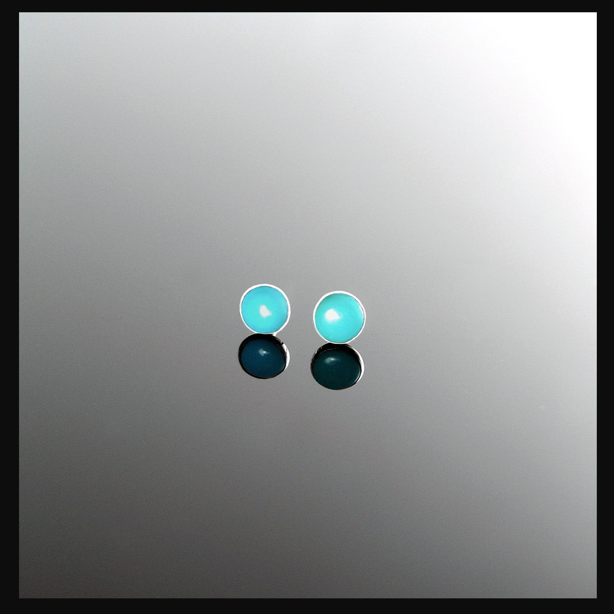 Small Posts Small Turquoise Studs Small Blue Turquoise Posts Small 5mm Sleeping Beauty Turquoise Post Earrings Sterling Silver Posts