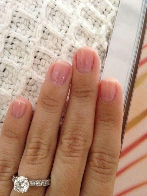 Essie\'s Sugar Daddy polish... nails look clean, feminine and classic ...