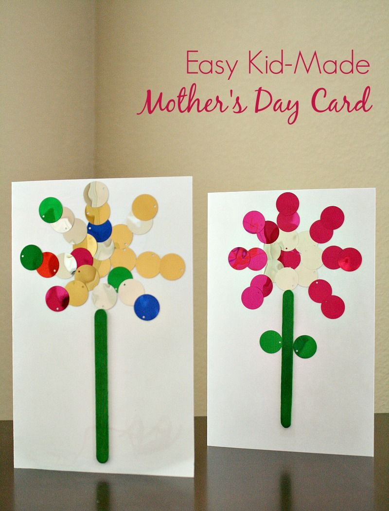 Easy mother 39 s day card kids can make for Preschool mothers day cards