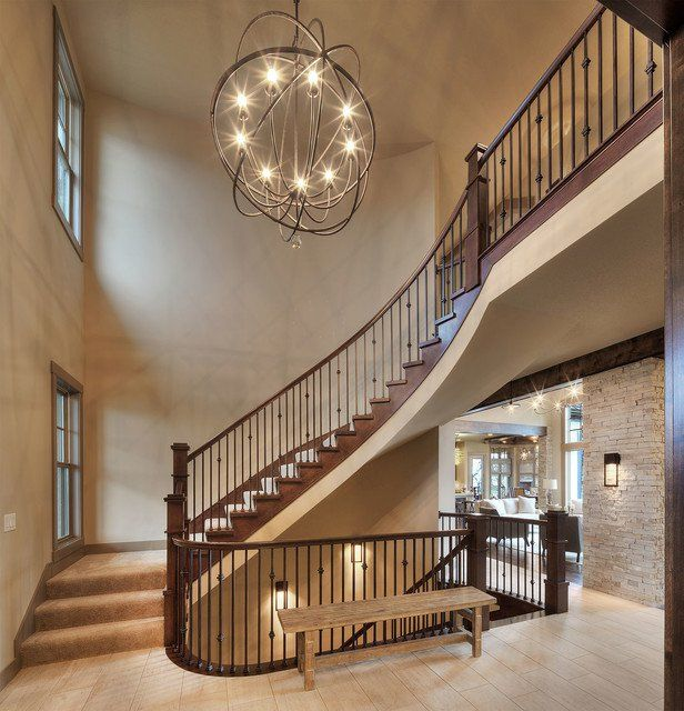 20 Excellent Traditional Staircases Design Ideas: 20 Uplifting Rustic Staircase Designs That You Can't