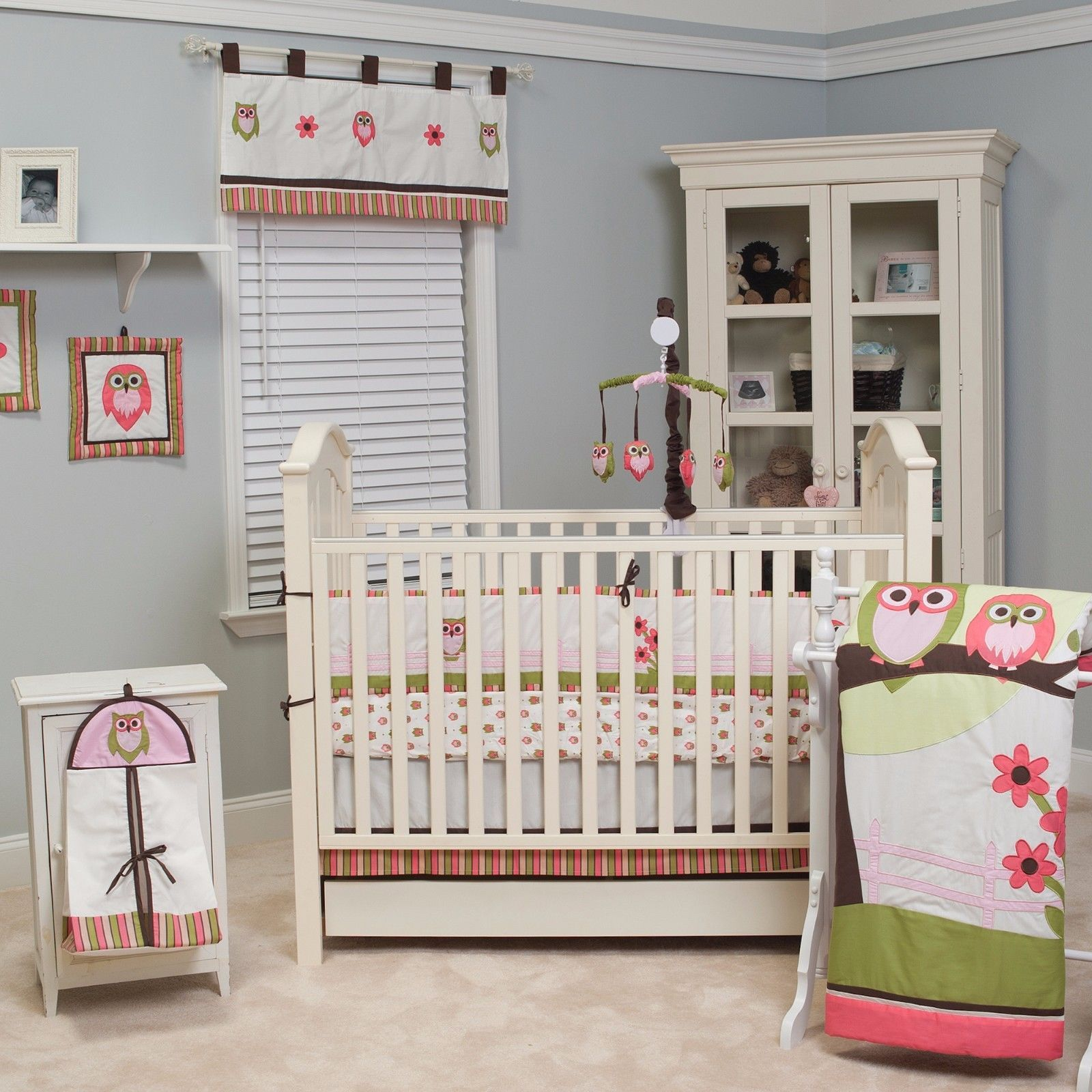 Crib Bedding Set 10 Piece Sweet Dream Owl Nursery Room Beautiful Shades Baby Bed Crib Bedding Cribs Crib Bedding Sets