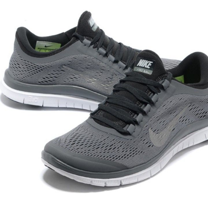 new nike free 3.0 v5 mens running shoes - black&white market