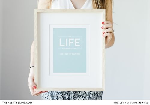 Looking for some instant and #motivational #art? The Pretty Blog has free #inspirational posters available for download: http://www.theprettyblog.com/style-and-home/free-inspiring-poster-2014-part-1/ #DIY #decor