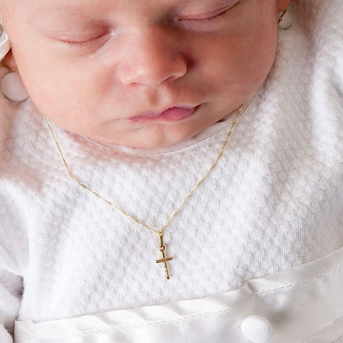 Christening Cross Necklace For Baby Boy