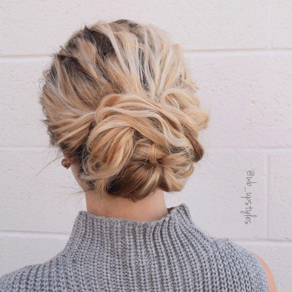 Elegant Wedding Hairstyle Idea: Popular Wedding Hairstyle. Elegant Updo Swept Back Into A