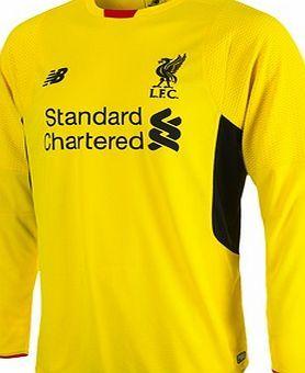 New Balance Liverpool Third Goalkeeper Shirt 2015 2016 Liverpool Third Goalkeeper Shirt 2015 16 Yellow Per Goalkeeper Shirts Long Sleeve Tshirt Men Liverpool