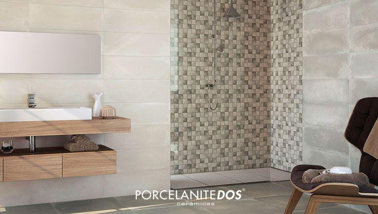 Ambiente de ba o con espectaculares mosaicos para la ducha - Mosaicos para banos ...