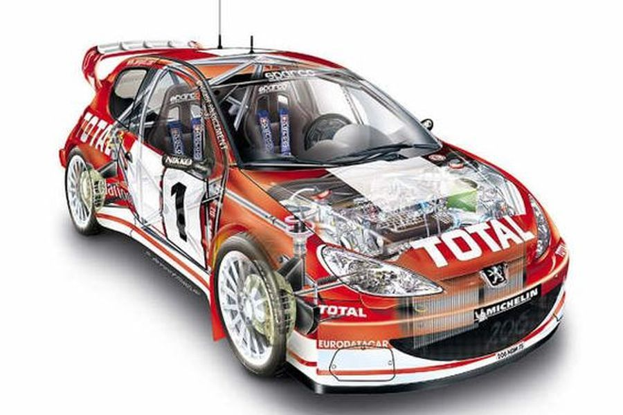 A3 Ford Focus WRC Rally 1999 Cutaway Drawing Wall Poster Art Picture Print
