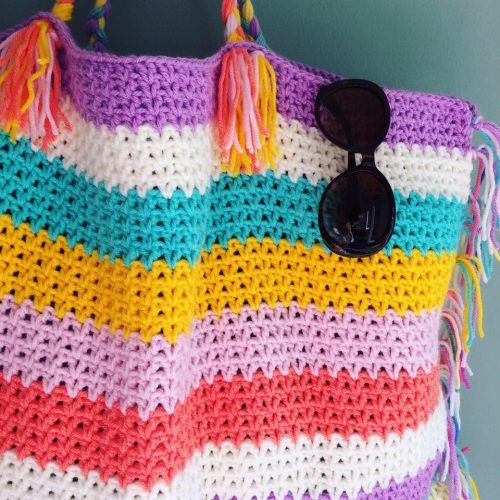 Free Tutorial For A Crocheted Beachbag By Ratschebutsch Designed In