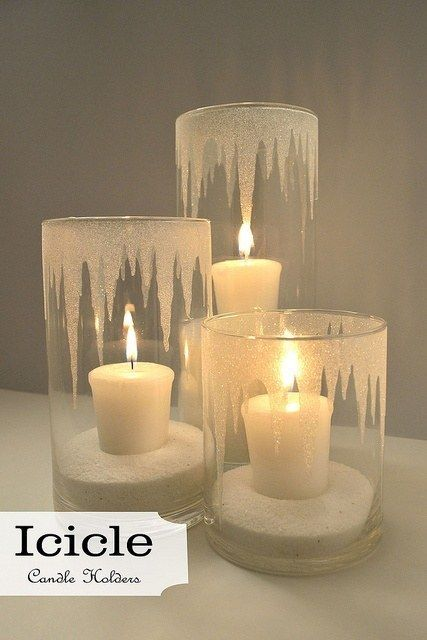 Decorating Ideas With Christmas Candles Winter Christmas Christmas Decorations Glitter Candles