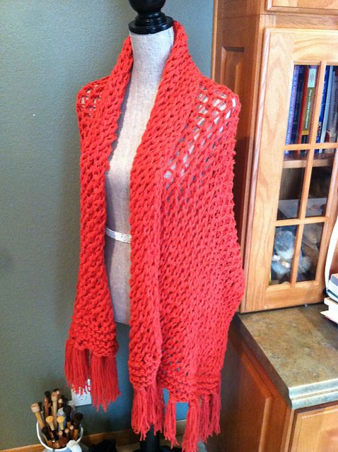 prayer shawl knitted with two strands to make a lacy fabric   prayer ...