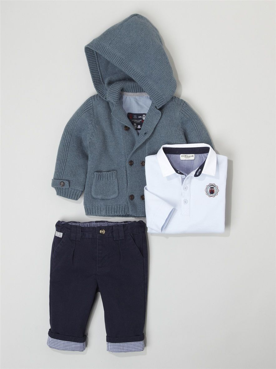 Silhouette BABIES' HOODED CARDIGAN + BABIES' TROUSER-RUGBY OUTFIT -