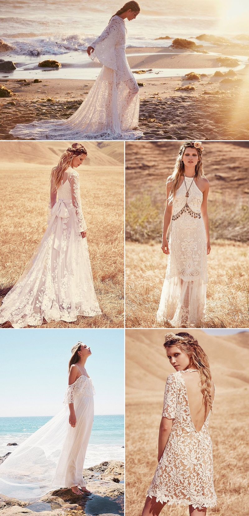 Full Of Freespirited Amazingness And Effortlessly Romantic Earthy Boho Style Is A Fast: Earthy Hippie Wedding Dresses At Websimilar.org