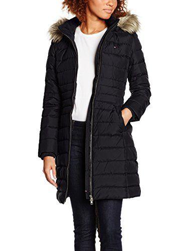 Hilfiger Denim Womens Dw0dw00511 Coat Black Schwarz Tommy Black 078 8 Manufacturer Size M Invest In Some Desi Hilfiger Denim Black Coat Winter Jackets