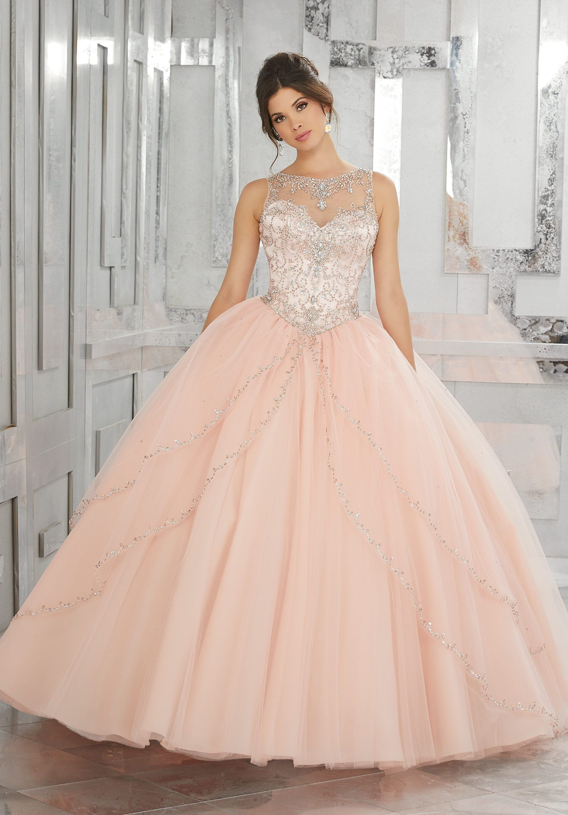 d2c307e8659 Beaded Sleeveless Quinceanera Dress by Mori Lee Vizcaya 89127 in ...