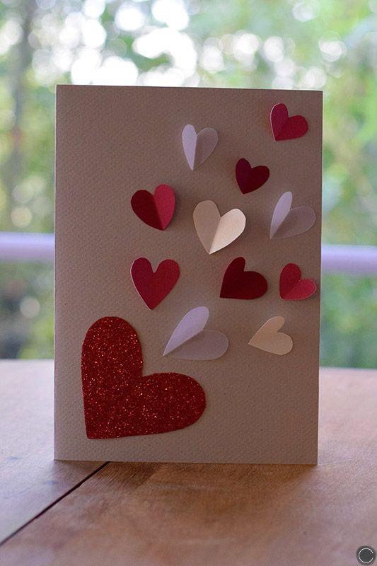 diy carte st valentin diy valentine 39 s day card cbyclemence blog projet d 39 cole. Black Bedroom Furniture Sets. Home Design Ideas