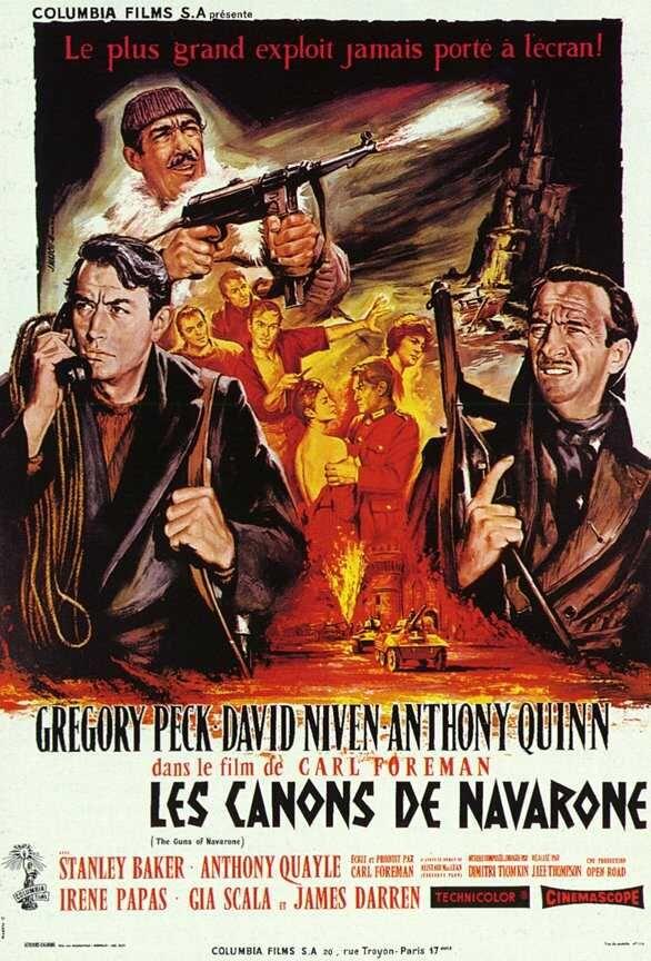 CANONS DE NAVARONE (LES) (1961) - Rue du Cine   News, cinéma, critiques de  films   Les canons de navarone, Films de guerre, Film de guerre