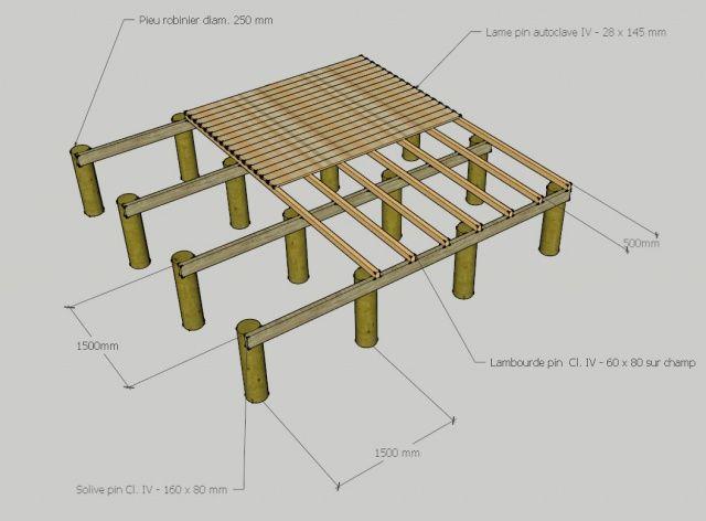 R sultat de recherche d 39 images pour terrasse sur pilotis - Construire une terrasse en bois sur pilotis ...