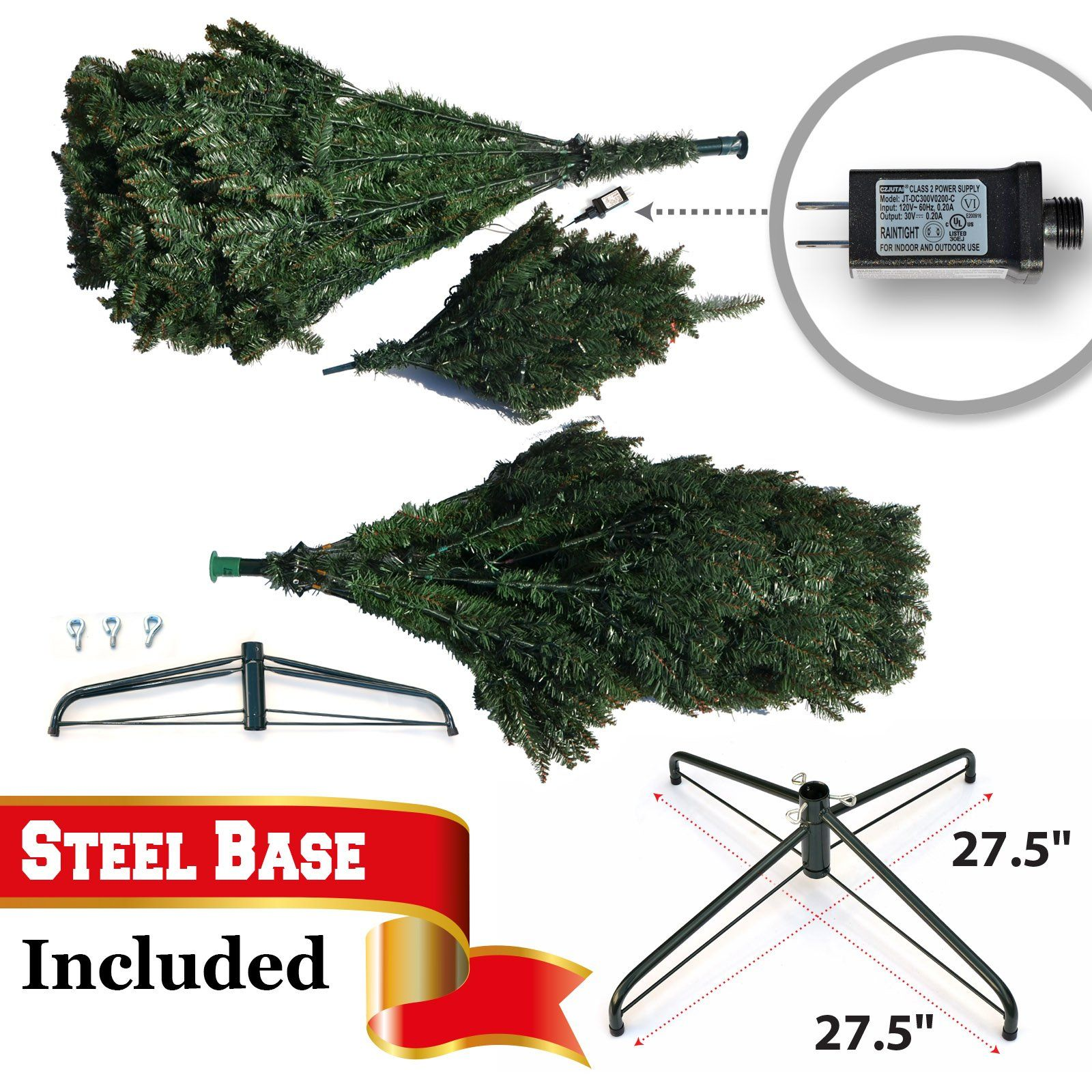 Benefitusa 7 5 Artificial Christmas Tree With Metal Stand Full Tree Xmas Holiday With 750 Clear Lights A Artificial Christmas Tree Xmas Holidays Christmas Tree