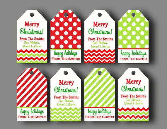 photograph regarding Personalized Gift Tags Printable named Custom made Xmas Reward Tags - Printable or Published with