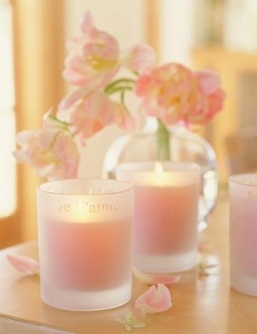 1. Candles. One of the loveliest ways to create a girly home is with lots of candles. They look beautiful grouped together, and of course smell divine when lit. Remember to always observe fire safety; never leave lit candles unattended and place them away from curtains.