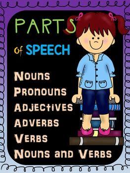 Parts of Speech Worksheets BUNDLE: Nouns, Pronouns, Verbs ...