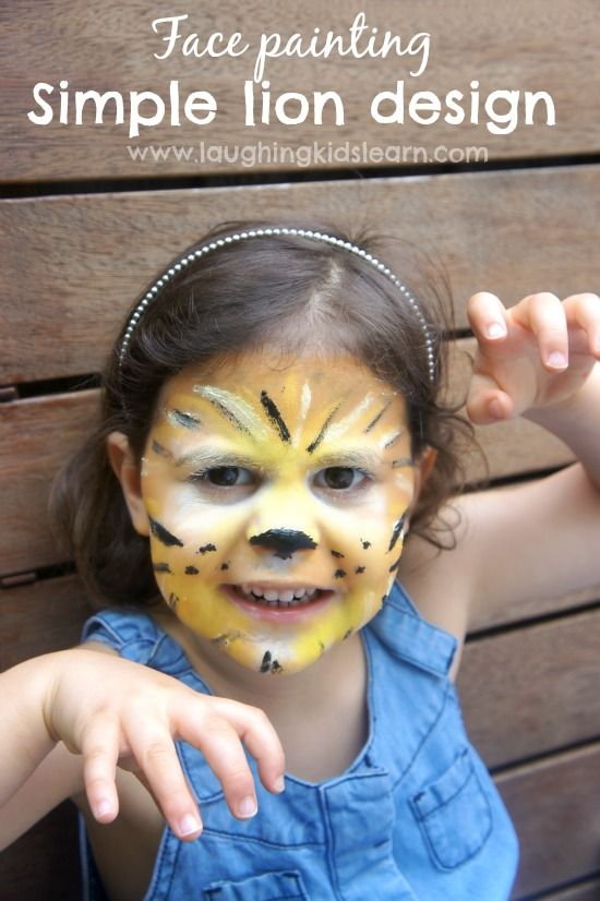 cff5b89f6 Simple face painting design of a lion