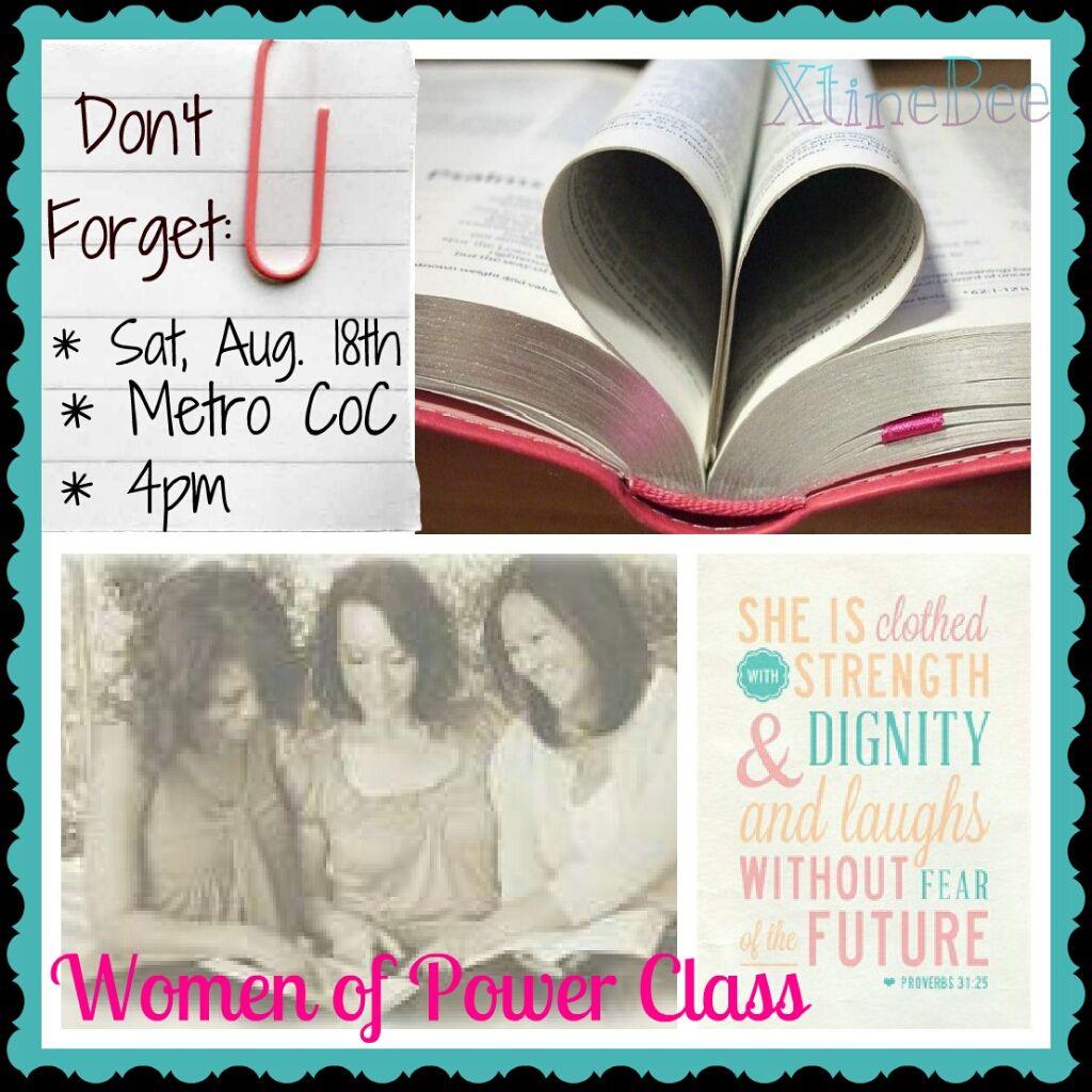 women u0026 39 s ministry class invite