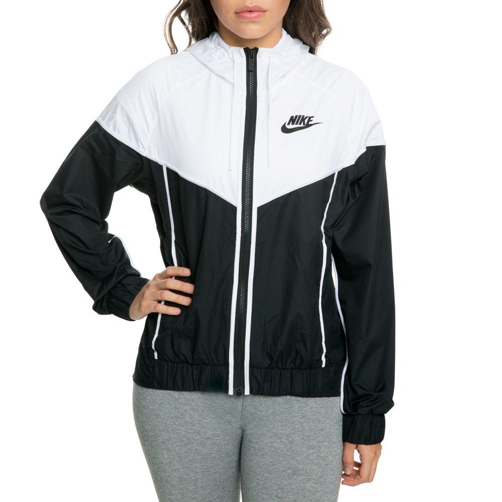 eb1bc39e6421 Women s nike windrunner jacket black white in 2019