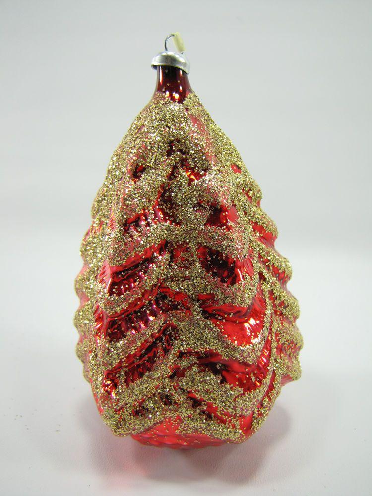 Vintage German Christmas Ornament Blown Mercury Glass Mica ...
