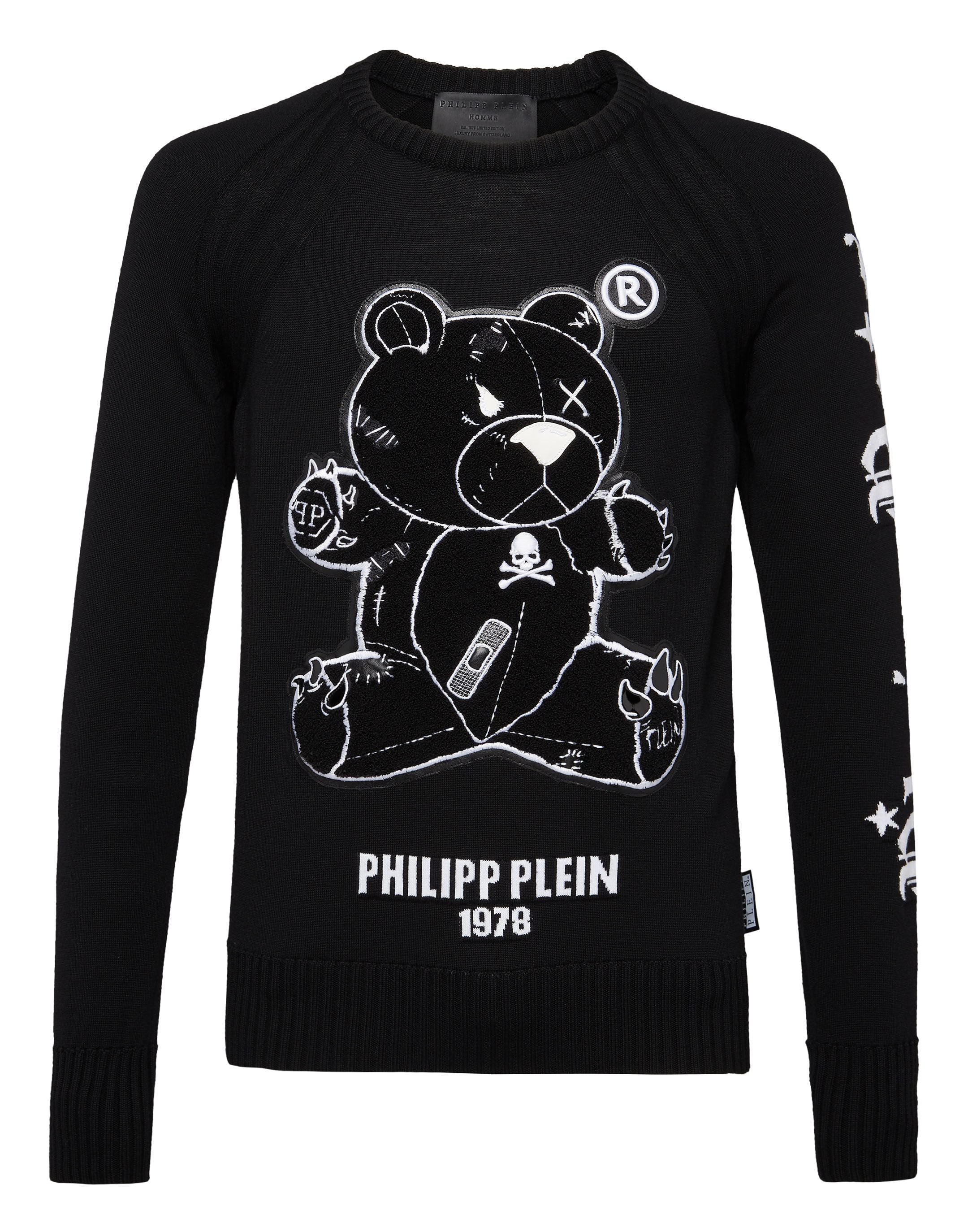 0b4b45de45c PHILIPP PLEIN PULLOVER ROUND NECK LS TEDDY BEAR. #philippplein #cloth