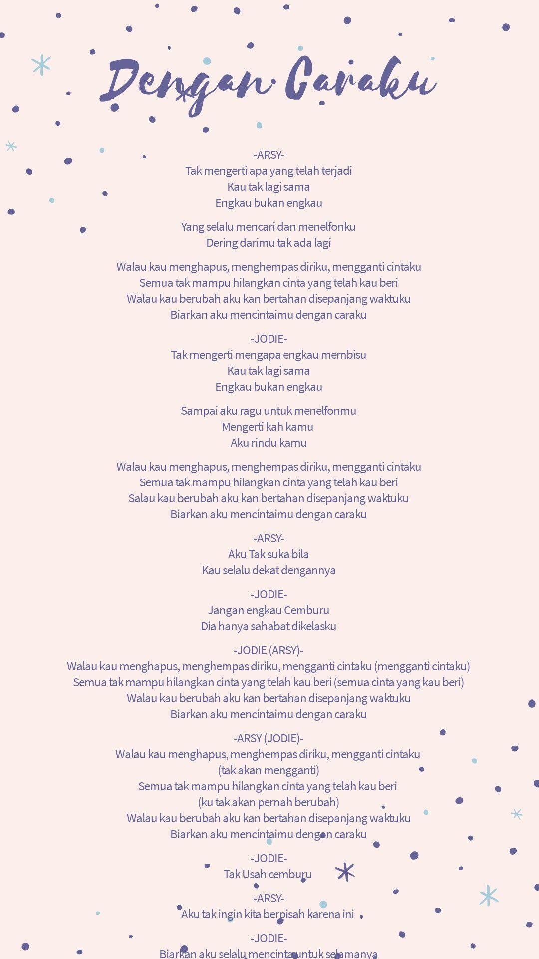 lirik lagu dengan caraku