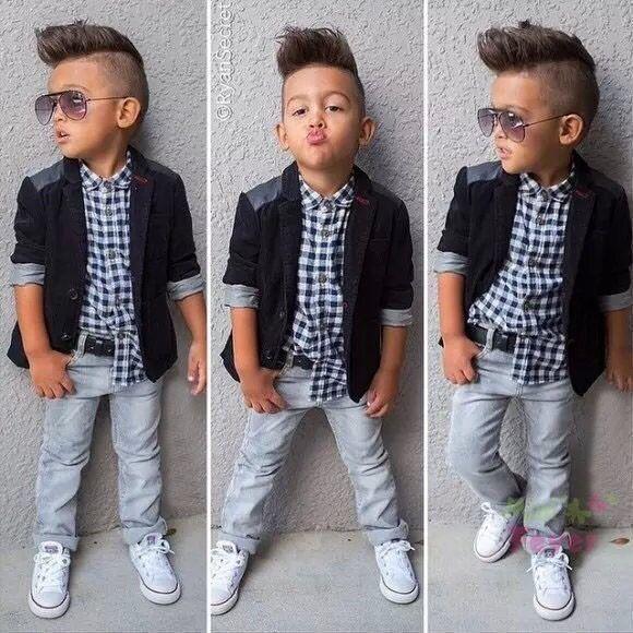 9a4c92e98 Toddler kids clothes Children boy jacket+t shirt+Denim jean pants ...