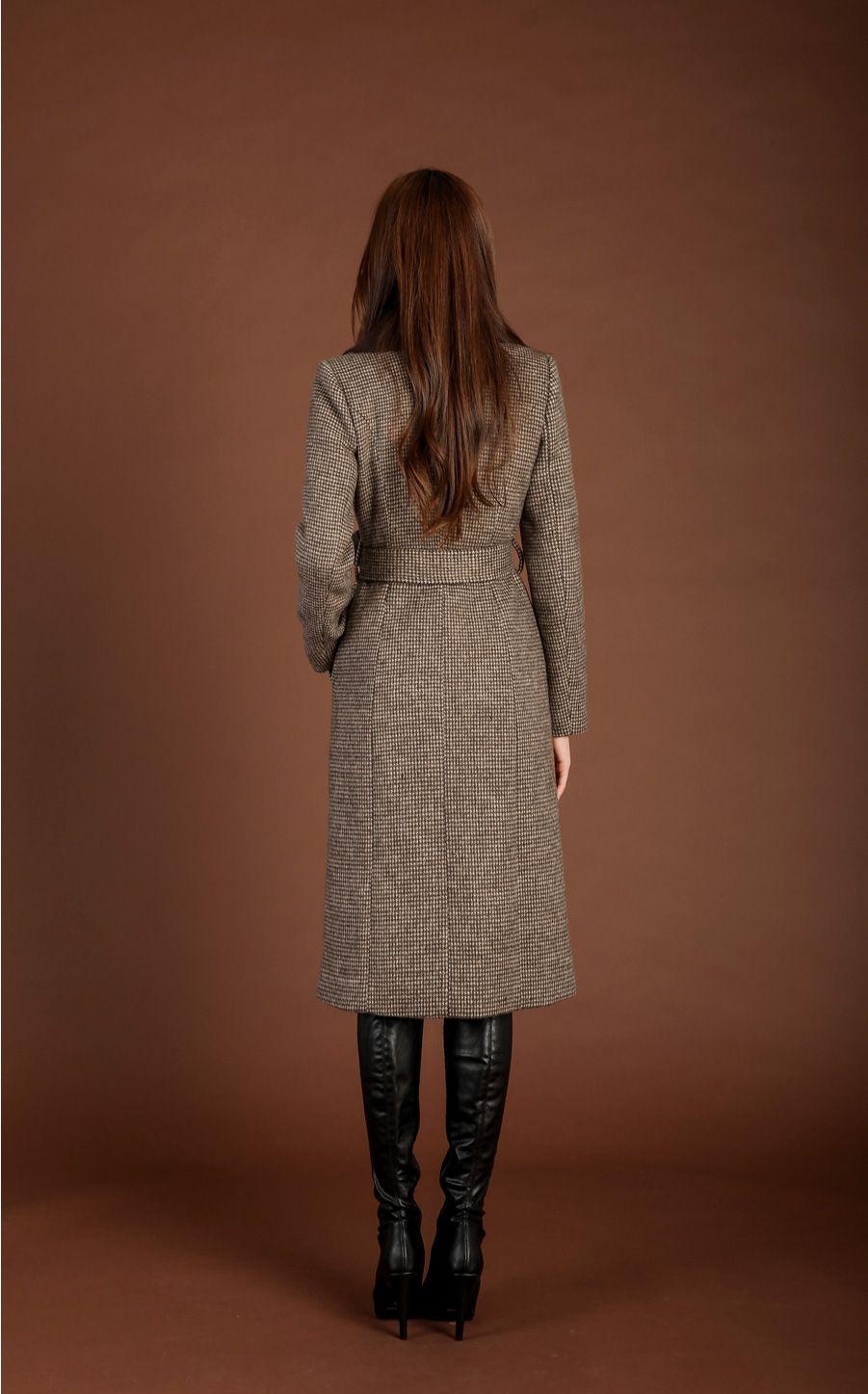 Check print wool blend slim fit coat in 2020 slim fit