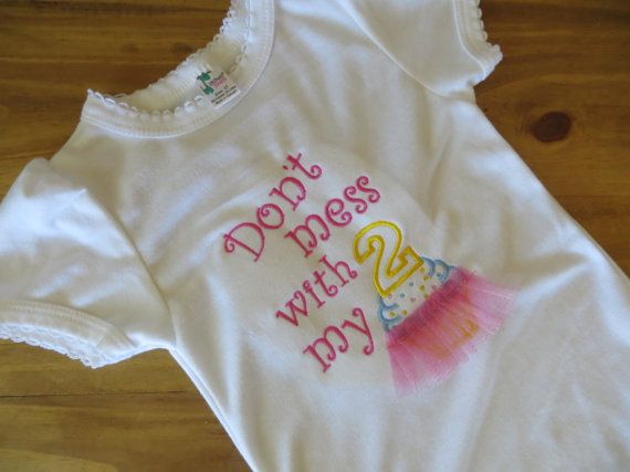 2nd Birthday Shirt Don't Mess with my Tutu Tutu by BrooklynVStone