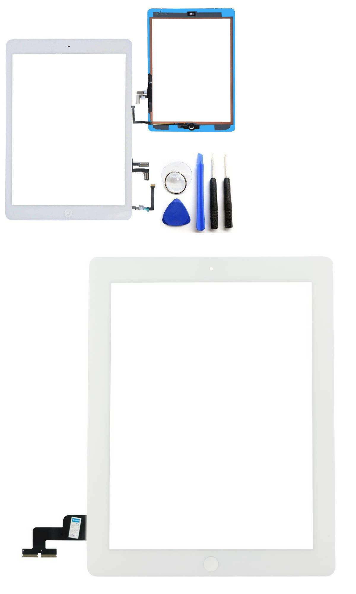 Touch Screen Digitizer Glass Replacement For Apple iPad 2//3//4// /& Ipad Mini 1//2//3