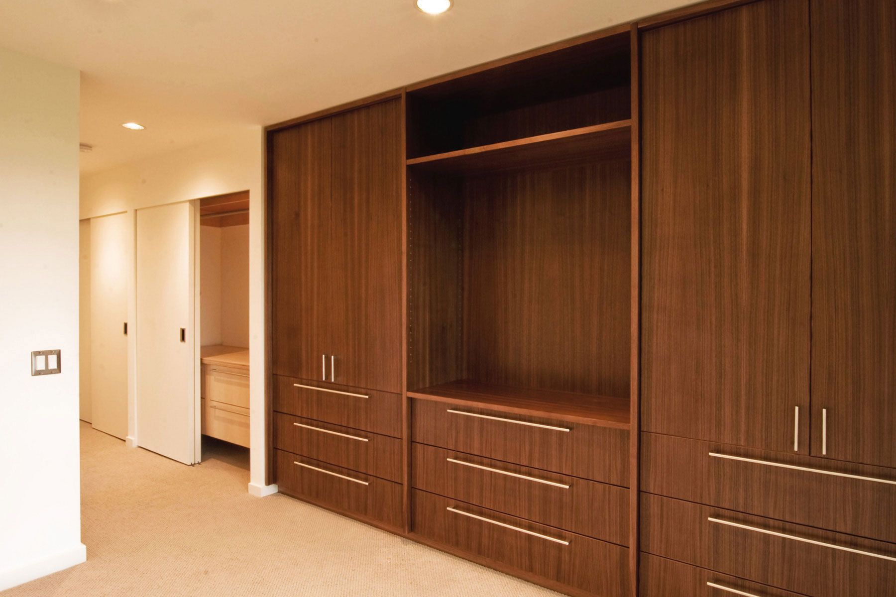 drawers with doors above similar to the look of the guest bedroom cabinets except the doors