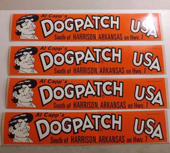 Dogpatch usa vintage bumper sticker harrison arkansas ozark mountains comic 1968