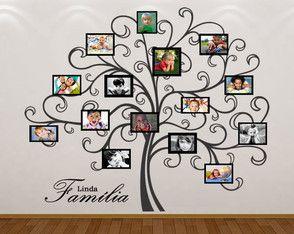 adesivo de parede Árvore genealógica ideias para a casa
